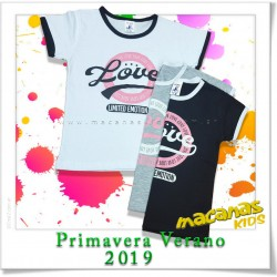 Remera con vivo LOVE
