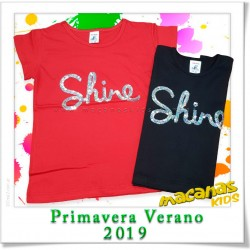 Remera bordada lentejuelas SHINE