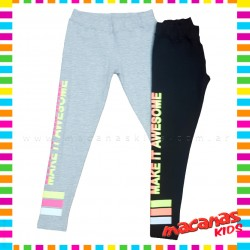 Calza lycra con fluo AWESOME